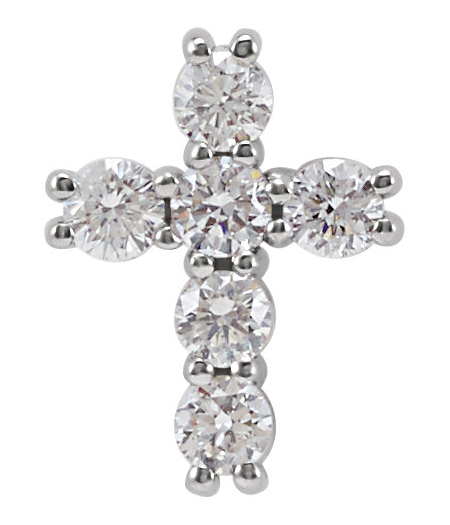 Small 1/4 Carat Diamond Cross Pendant