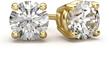 0.50 Carat Round Diamond Stud Earrings in 18K Yellow Gold