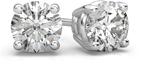 Platinum 1 1/2 Carat Diamond Stud Earrings
