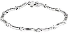 1/2 Carat Bezel Diamond Line Bracelet, 14K White Gold