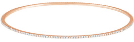 14K Rose Gold 1 Carat Diamond Bangle Stackable Bracelet
