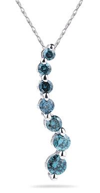 1/2 Carat Blue Diamond Journey Pendant