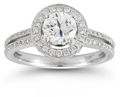 1.50 Carat Brilliant-Cut Round Diamond Engagement Ring