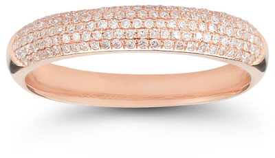 Five-Row 0.45 Carat Diamond Band in 14K Rose Gold