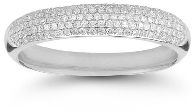 Five-Row 0.45 Carat Diamond Band in 14K White Gold