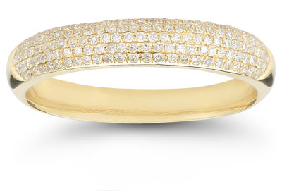 Five-Row 0.45 Carat Diamond Band in 14K Yellow Gold