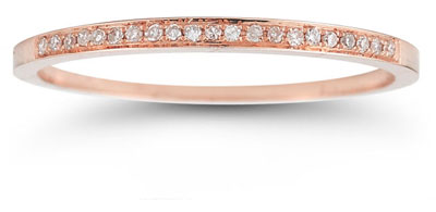 Polished Diamond Band in 14K Rose Gold
