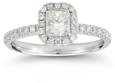 3/4 Carat Princess-Cut Diamond Engagement Ring