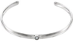 Diamond Cuff Bangle Bracelet in 14K White Gold