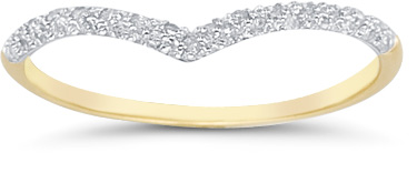Diamond Ring Wrap Band, 14K Yellow Gold