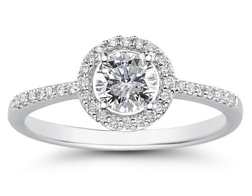 Circle Diamond Wedding Ring