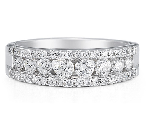 1.00 Carat Diamond Flourish Band in 14K White Gold