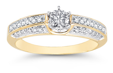 0.65 Carat Opulent Diamond Ring in 14K Yellow Gold