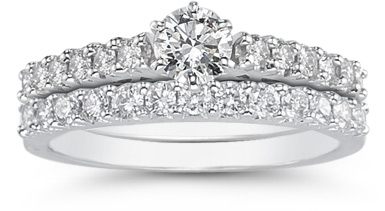 1.20 Carat Diamond Engagement & Wedding Ring Set