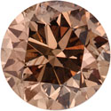 Loose 1 Carat Cognac Diamond, SI1 Clarity
