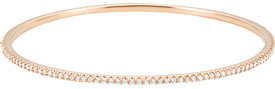 14K Rose Gold 2 Carat Stackable Diamond Bangle Bracelet