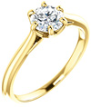 0.75 Carat 6-Prong Diamond Solitaire Engagement Ring, 14K Yellow Gold