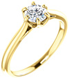0.50 Carat 6-Prong Diamond Solitaire Engagement Ring in 14K Yellow Gold