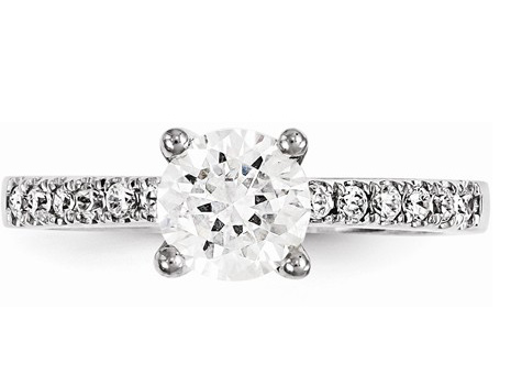 1/2 Carat Round Diamond Engagement Ring (0.50 carats Total)
