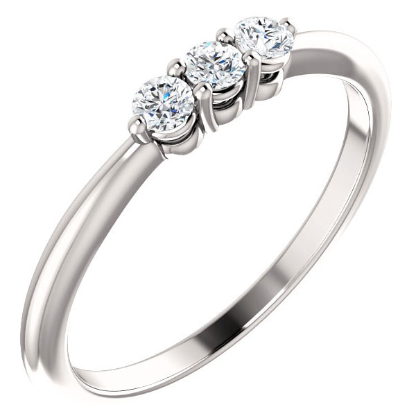 1/5 Carat Three-Stone Diamond Engagement Ring