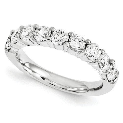 1 Carat Diamond Anniversary Band, 14K White Gold