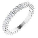 1 carat princess-cut diamond eternity band, 14k white gold