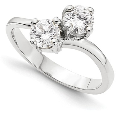 Half Carat Only Us 2 Stone Diamond Ring in 14K White Gold