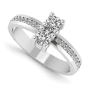 0.30 Carat Two Stone Diamond Ring in 14K White Gold