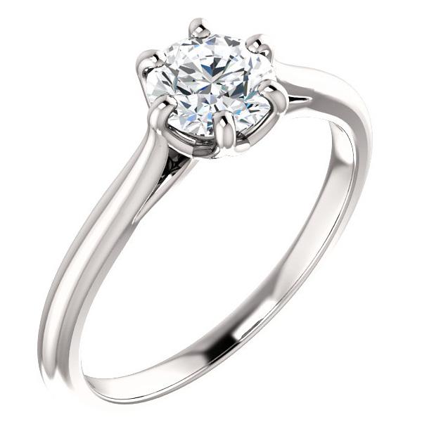 3/4 Carat Designer 6-Prong Diamond Solitaire Engagement Ring