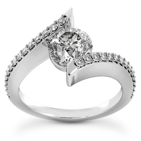 3/4 Carat Tension-Set Style Diamond Engagement Ring