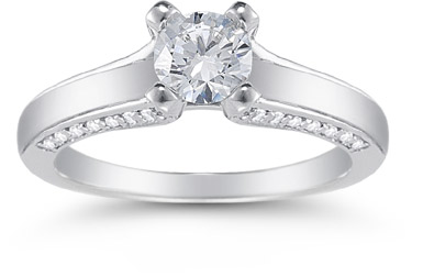 0.80 Carat Art Nouveau Diamond Engagement Ring