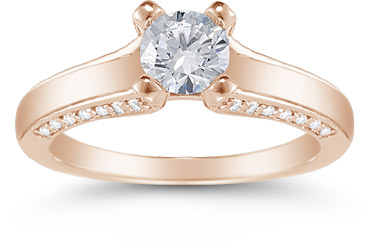 0.75 Carat Diamond Engagement Ring in 14K Rose Gold