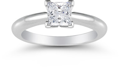 Princess Cut 0.75 Carat Diamond Solitaire Engagement Ring