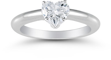 0.75 Carat Heart Diamond Solitaire Engagement Ring