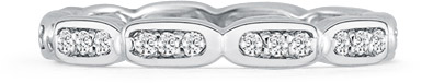 1/3 Carat Diamond Eternity Band in 14K White Gold