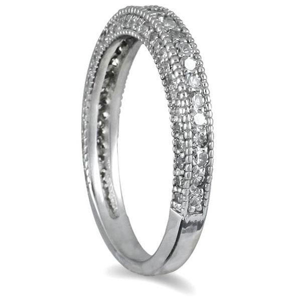 3 4 Carat Diamond Wedding Band In 10k White Gold