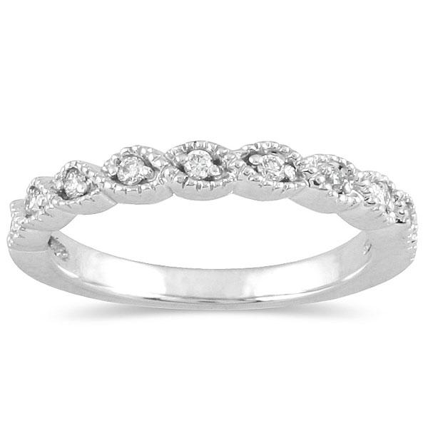 Diamond Wedding Band In 10k White Gold