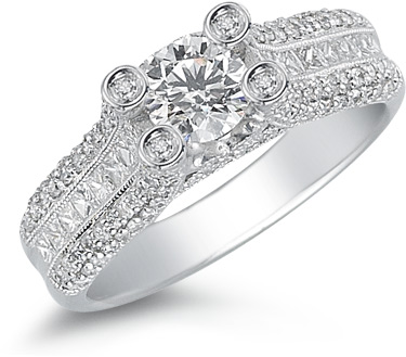 1.50 Carat Diamond Enchantment Ring in 18K White Gold (Rings, Apples of Gold)