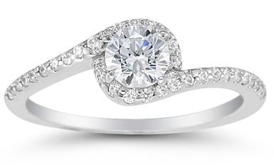 0.75 Carat Diamond Swirl Ring