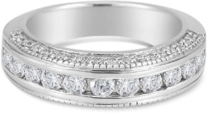 1 Carat Channel Set Diamond Wedding Band