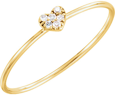 Heart of Diamonds Ring in 14K Yellow Gold
