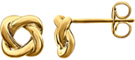 Design Love-Knot Earrings, 14K Yellow Gold
