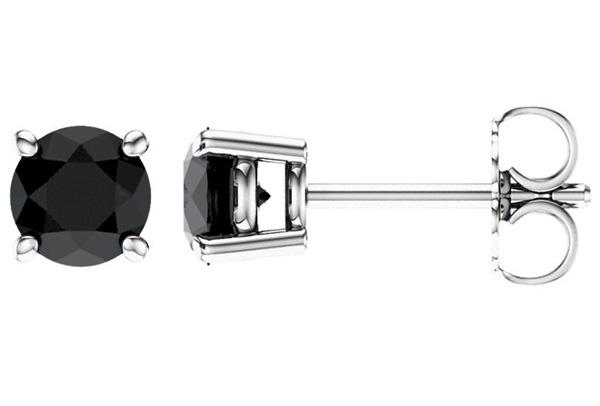 25a6e78b8 Black Onyx Stud Earrings in 14K White Gold