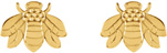 Bumblebee Earrings, 14K Gold