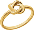 Designer Love-Knot Ring in 14K Gold