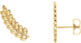 Petite 14K Gold Leaf Ear Climbers