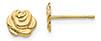 14K Gold Rose Stud Earrings