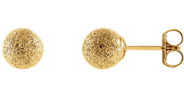 14K Gold Stardust Ball Earrings