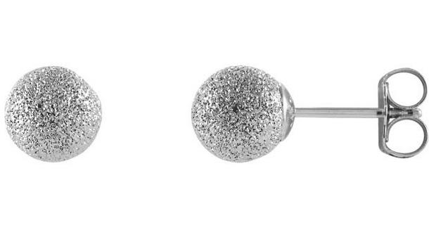 Silver Stardust Ball Earrings