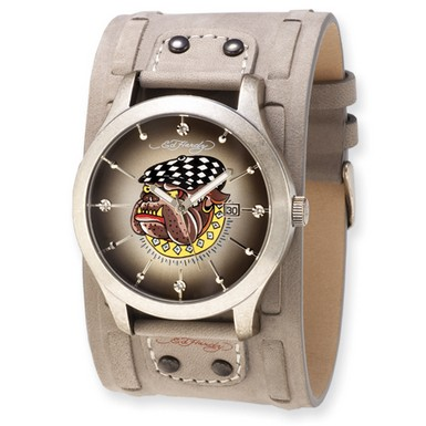 Ed Hardy Gladiator Bulldog Watch (Apples of Gold)
